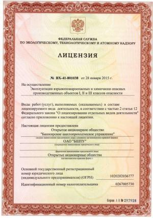 Лицензия ВХ-41-831038
